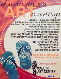 Poster for Art Camp 2015