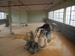floors being sanded