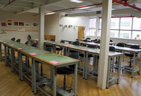 Penn State class room at Walk In Art Center