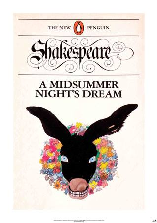 Shakespeare poster a midsummer night's dream