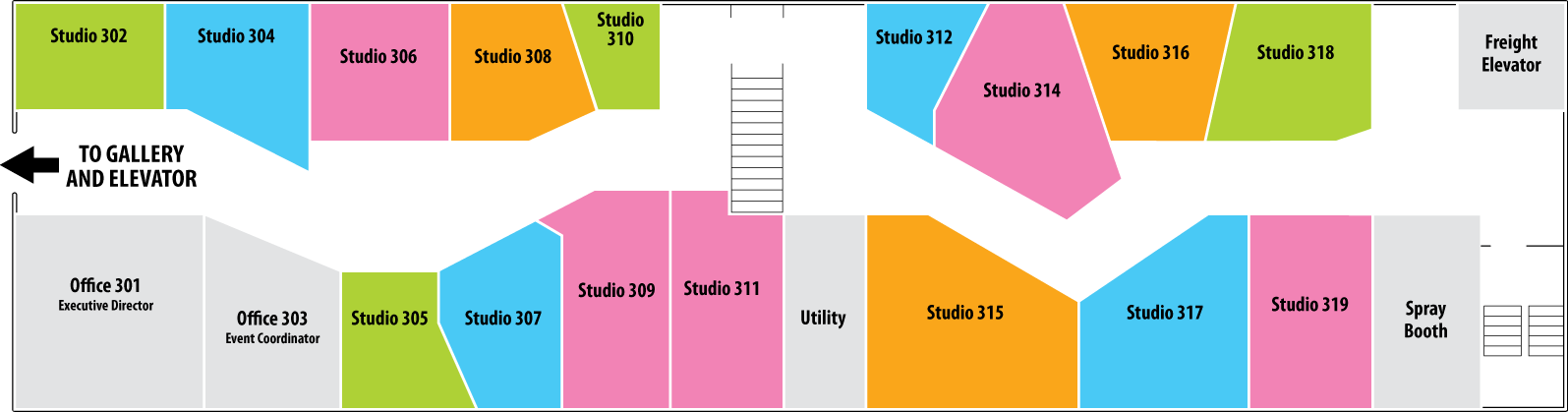 Walk In Art Center Studio Layout