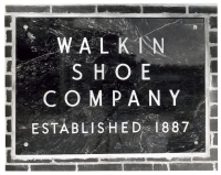 Walkin Shoe Co plaque